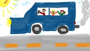 Disegno bambino automobile